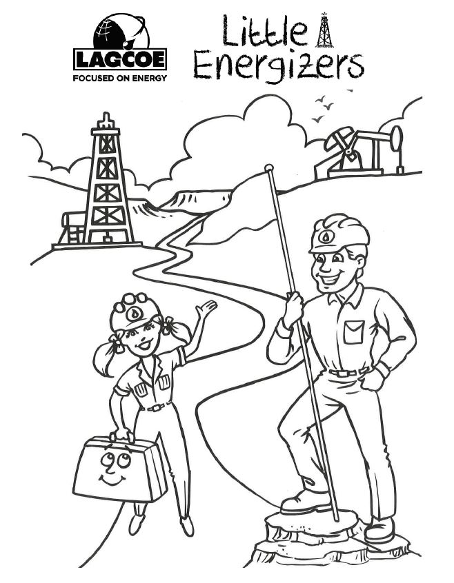 Preview for LAGCOE Little Energizers Coloring Page: PetroMolly and PetroMack