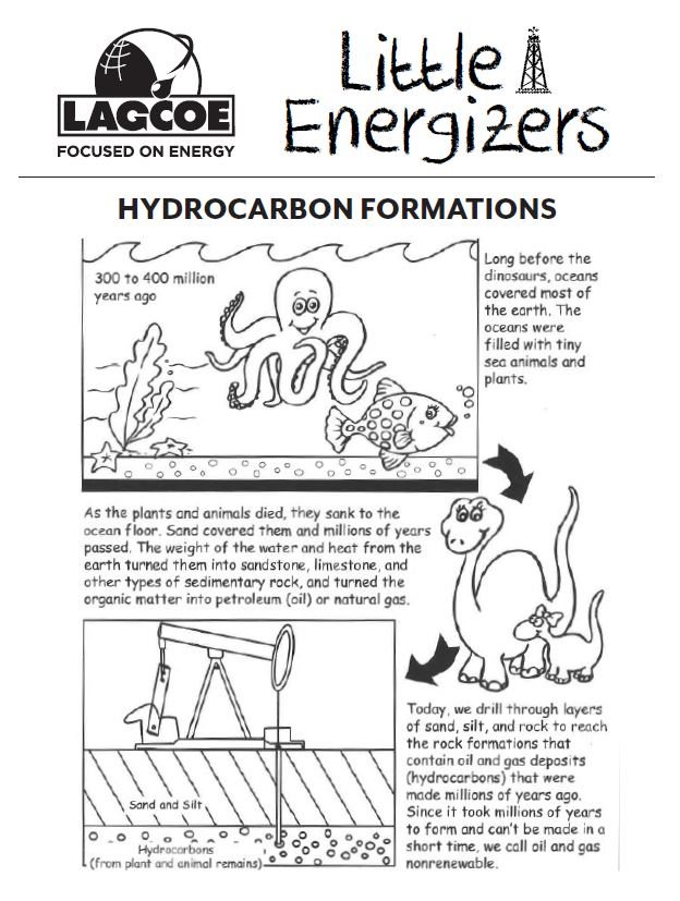 Preview for Hydrocarbon Formations Activity Sheet!